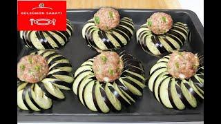 Sunumu Harika Fırında Patlıcan Kebabı / firinda Patlican Kebab Tarifi