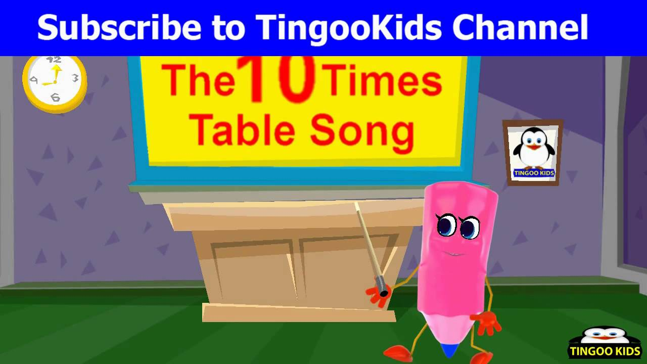 10 times table nursery rhymes teaser songs youtube for 10 times table song