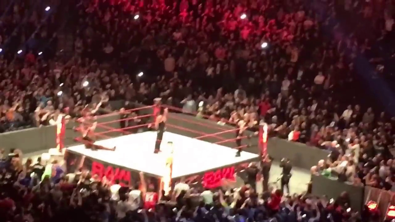 wwe roman reigns spears the undertaker live raw march 20 2017