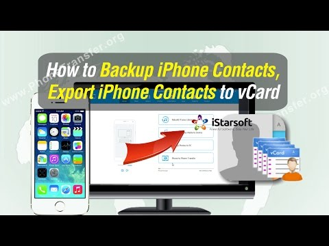 How to Backup iPhone Contacts, Export iPhone Contacts to vCard