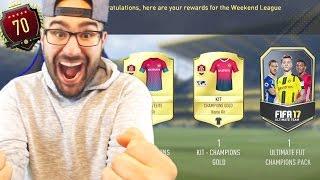 INSANE TOP 100 MONTHLY REWARDS FUT CHAMPIONS! FIFA 17 WEEKEND LEAGUE