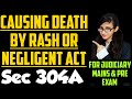 Section 304A of IPC explained, Causing death by rash or negligent act in ipc