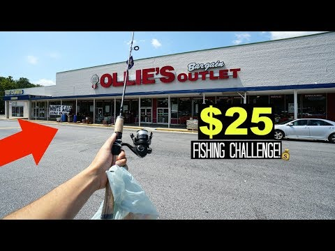 $25 Ollie's Bargain Outlet Fishing Challenge!! (Surprising!)