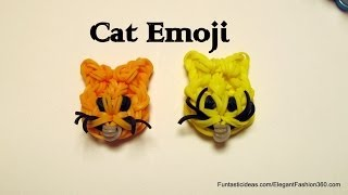 Rainbow Loom Cat Face Emoji/Emoticon charm - How to
