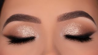 Soft Glitter Eye Makeup for Wedding / Party / Special Occasion!