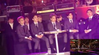 vuclip BTS, EXO, Cnblue reaction to Blackpink [SBS gayo] 2016 fancams