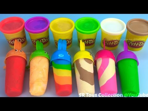 Making 6 Play Doh Ice Creams With Molds
