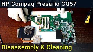 HP Compaq CQ57 disassembling and fan cleaning, разборка и чистка ноутбука