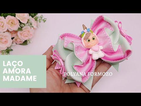 Laço Amora embutido - how to make hair bows - Coleção volta às aulas by Poly Formozo from YouTube · Duration:  25 minutes 24 seconds