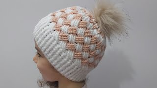 TIĞ İŞİ EFSANE ŞAPKA (BERE) YAPIMI  Örgü Modelleri  Crochet Hat Making #70