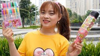 Chị Tặng Em Hộp Bút Màu Kim Tuyến ❤ BIBI TV ❤