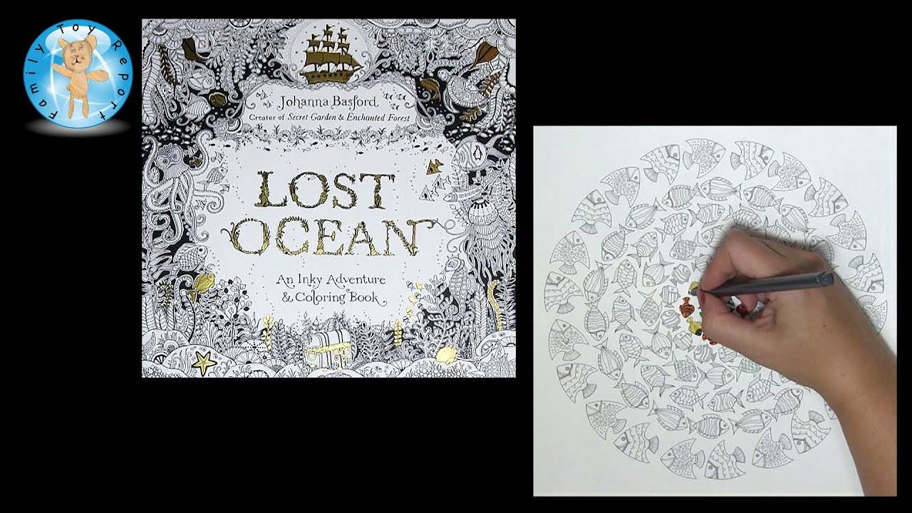 Lost Ocean By Johanna Basford Adult Coloring Book Fish