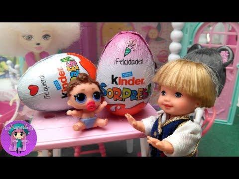 HUEVO GIGANTE de Chocolate, el mejor huevo de Pascua con Marinette y Adrien 🦄 Videos de muñecas LOL