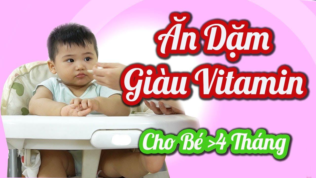 Cháo Trái Cây Ăn Dặm Tăng Cường Vitamin / Ăn Dặm lần đầu cho bé 4-6 tháng / Homemade Baby Food
