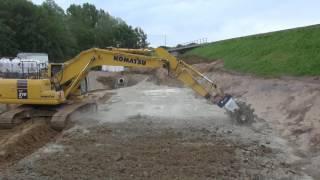 Bodenstabilisierung mit dem Bagger - Stehr ExMix 10