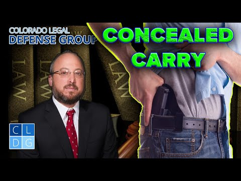 """""""Concealed Weapons"""" in Colorado - When are they illegal?"""