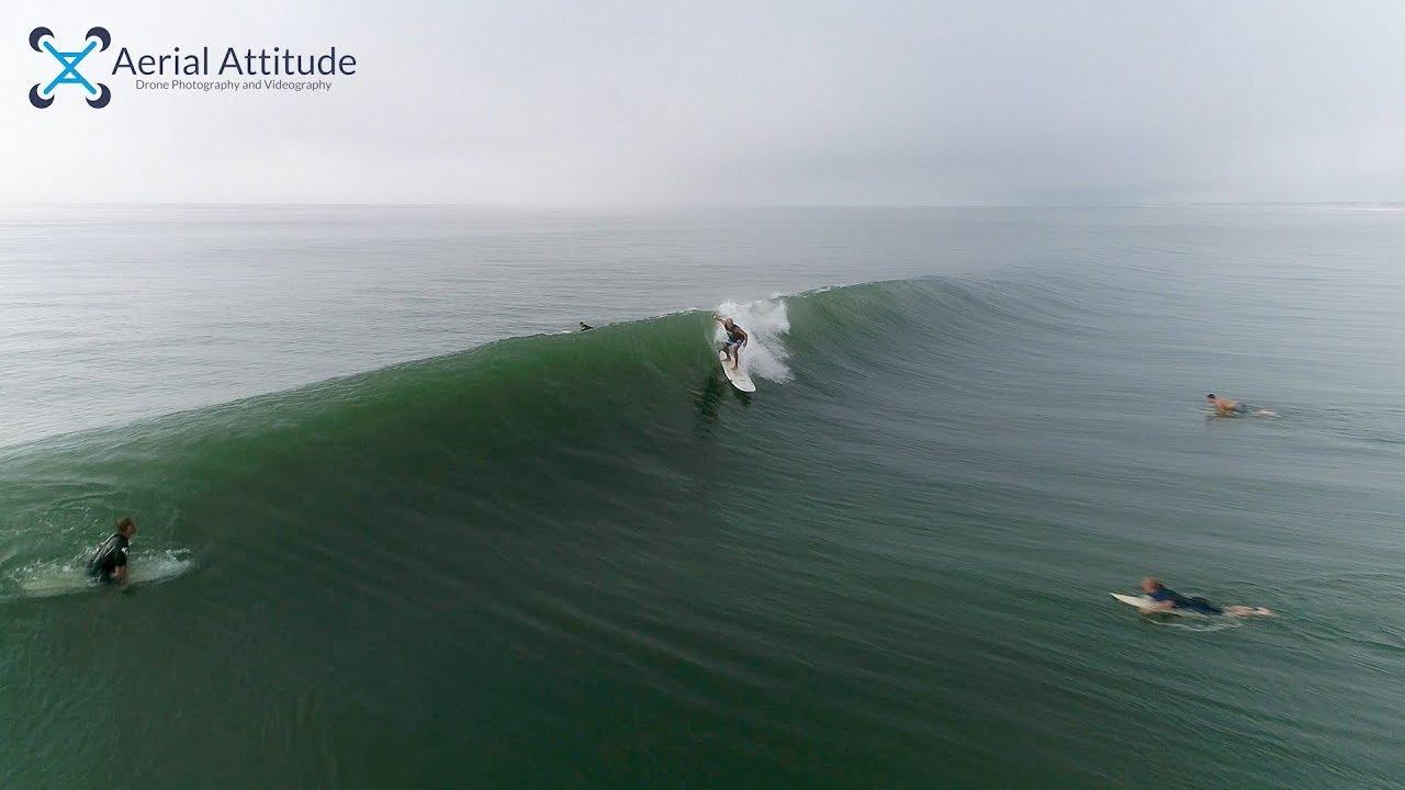 Surf At Weekapaug Beach In Rhode Island Epic Drone Video