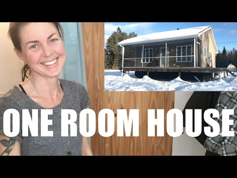 OUR New ONE ROOM HOUSE In The WOODS   Why New Brunswick???