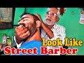 Street Head massage with Neck crack by Old indian barber - ASMR street salon