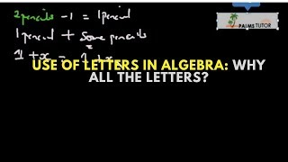 Use of letters in Algebra: Why all the letters?