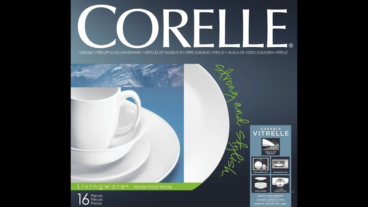 sc 1 st  YouTube & UNBOXING: Corelle Livingware Winter Frost White Dinnerware Set - YouTube