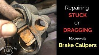Repairing Stuck Brake Calipers: Honda VT1100