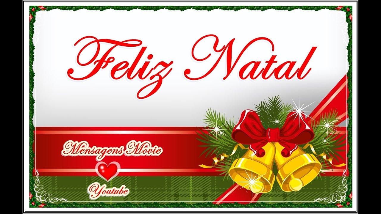 Cartão De Natal Mensagem De Natal Youtube