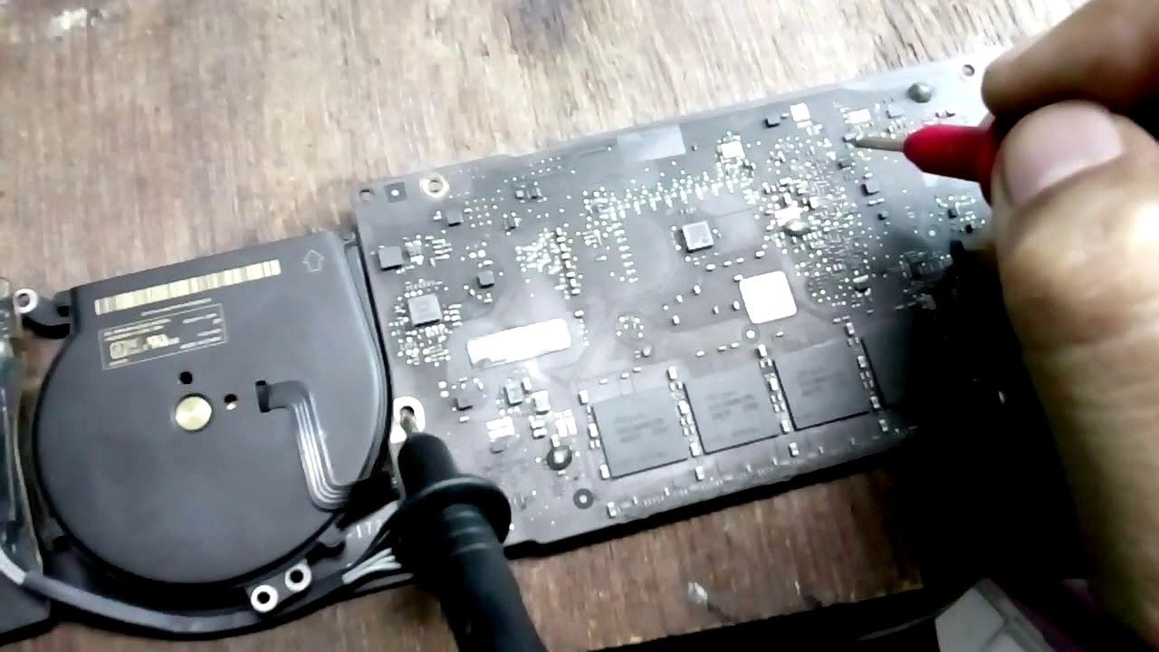 macbook air logic board a1466 black screen no display ...