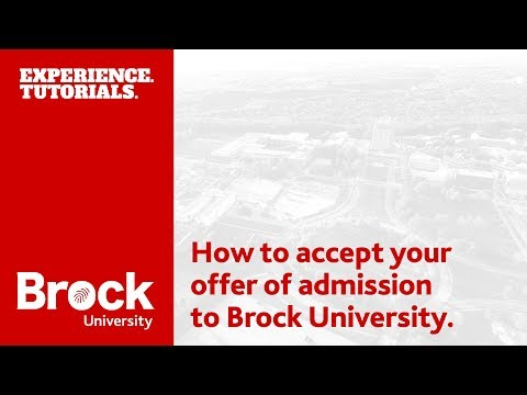 How to accept your Brock University offer of admission