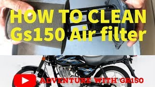 Motorcycle Care | How to wash air filter. Suzuki Gs150