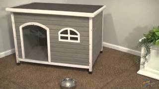 Spotty Xl Insulated Flat Roof Dog House - Product Review Video