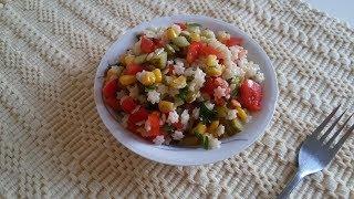 Салат с макаронами звездочка по турецкому рецепту