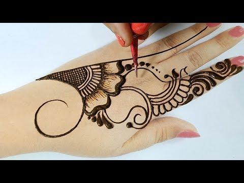 नवरात्री स्पेशल मेहँदी - बहुत आसान शेडेड मेहँदी डिज़ाइन - New Stylish Navratri/Karwachauth Mehndi