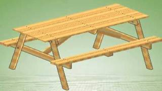 How to build a Picnic Table with Assembly instructions link