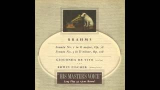 Silent Tone Record/ブラームス:ヴァイオリン・ソナタ1、3番/ジョコンダ・デ・ヴィート、エドウィン・フィッシャー/ALP 1282/クラシックLP専門店サイレント・トーン・レコード