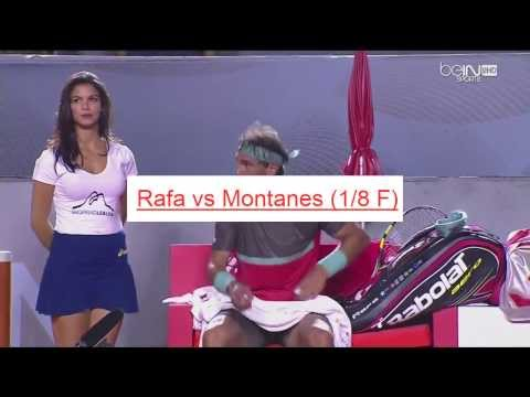 Beautiful HOT GIRL of Rafael NADAL funny moments tennis Rio Open 2014 HD