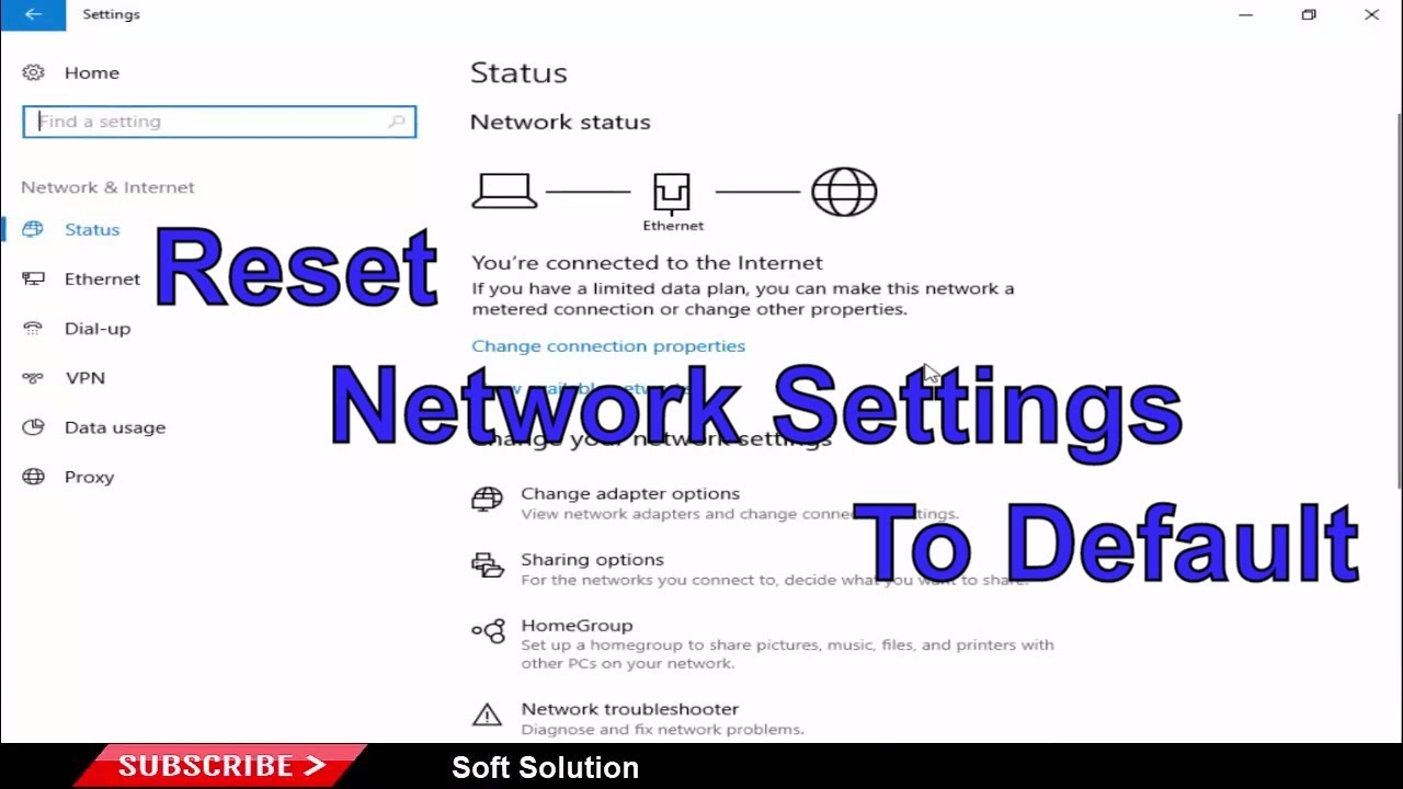 reset network settings windows 10 powershell