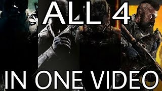ALL 4 Black Ops Games In One Video (BO1, 2, 3, & 4 Gameplay)