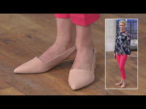 Franco Sarto Suede Pointed Toe Sling-Backs - Vellez On QVC