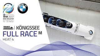 Full Race 4-Man Bobsleigh Heat 4 | KÖnigssee | BMW IBSF World Championships 2017