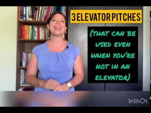 Elevator pitches for any situation!