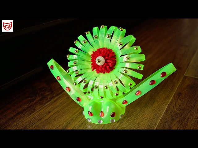 DIY Showpiece from Plastic bottle | Waste material craft - Episode 53