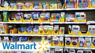 bak to school supplies shopping at walmart