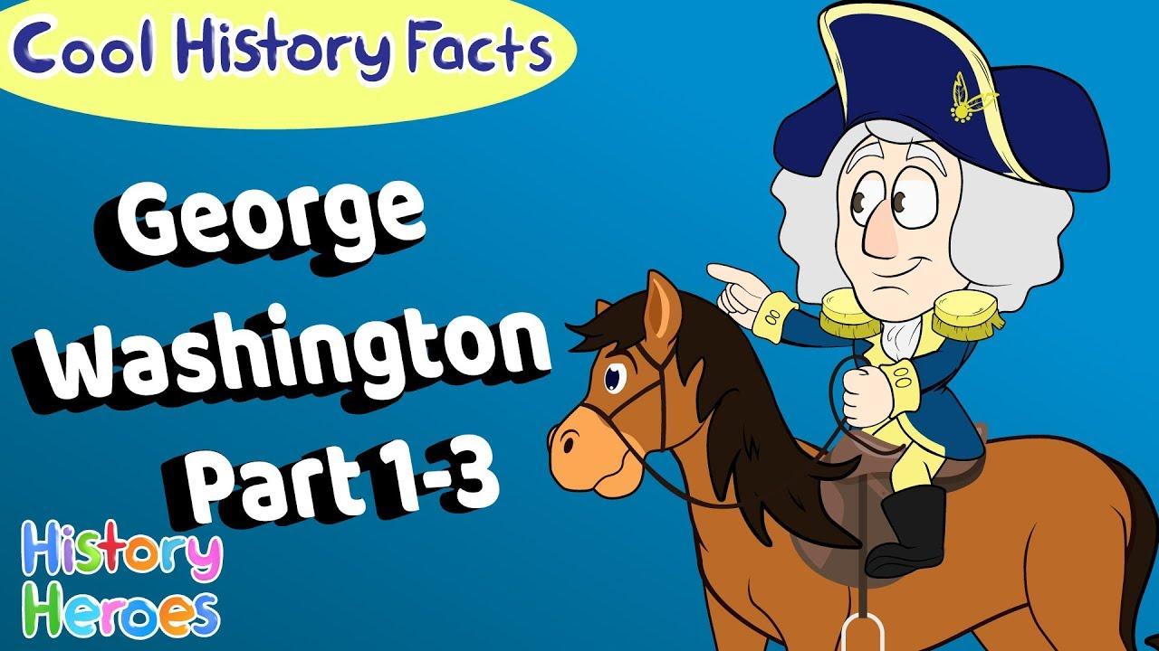 Complete George Washington (Parts 1 - 3) 😁 Funny History Cartoons