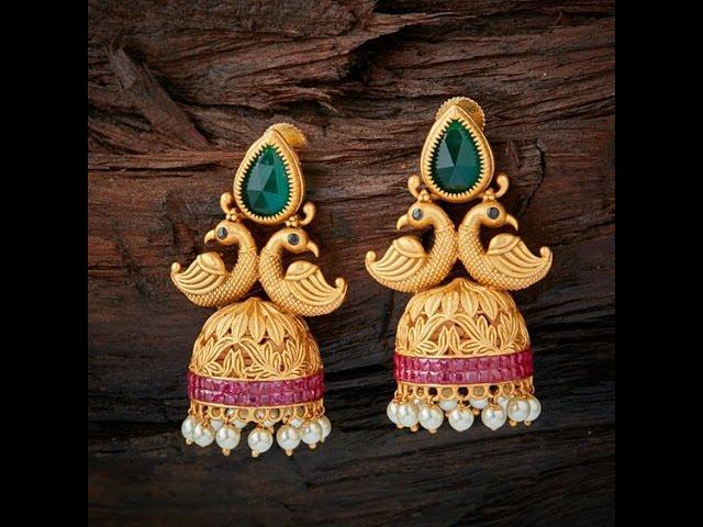 Top 20 Latest Gold kammalu buttalu designs_Latest Gold Long Jhumka top 20 Designs