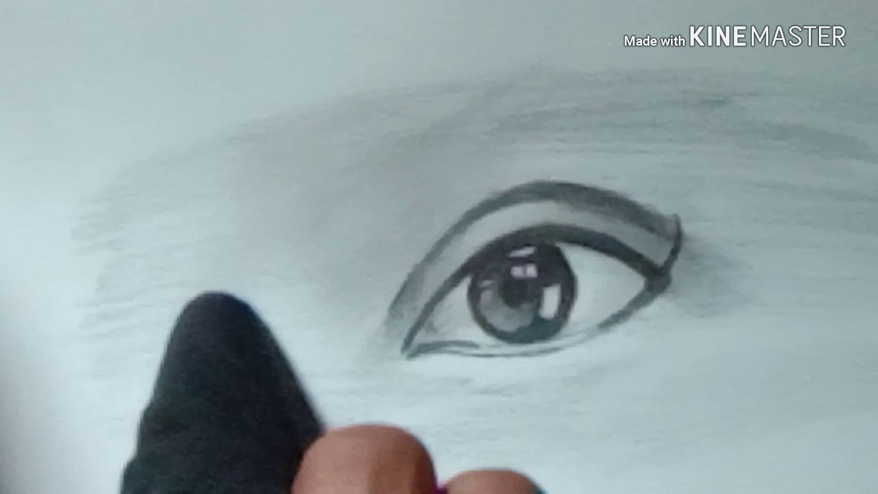 How To Draw Sad Crying Eyes Use Only Pencil Youtube