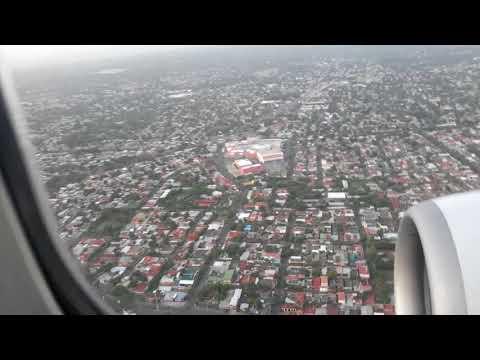 Aterrizaje en Managua, Nicaragua.  Landing in Managua, Nicaragua  - 10 de junio 2018.