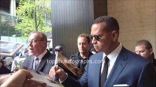 Alex Rodriguez - SIGNING AUTOGRAPHS while promoting in NYC
