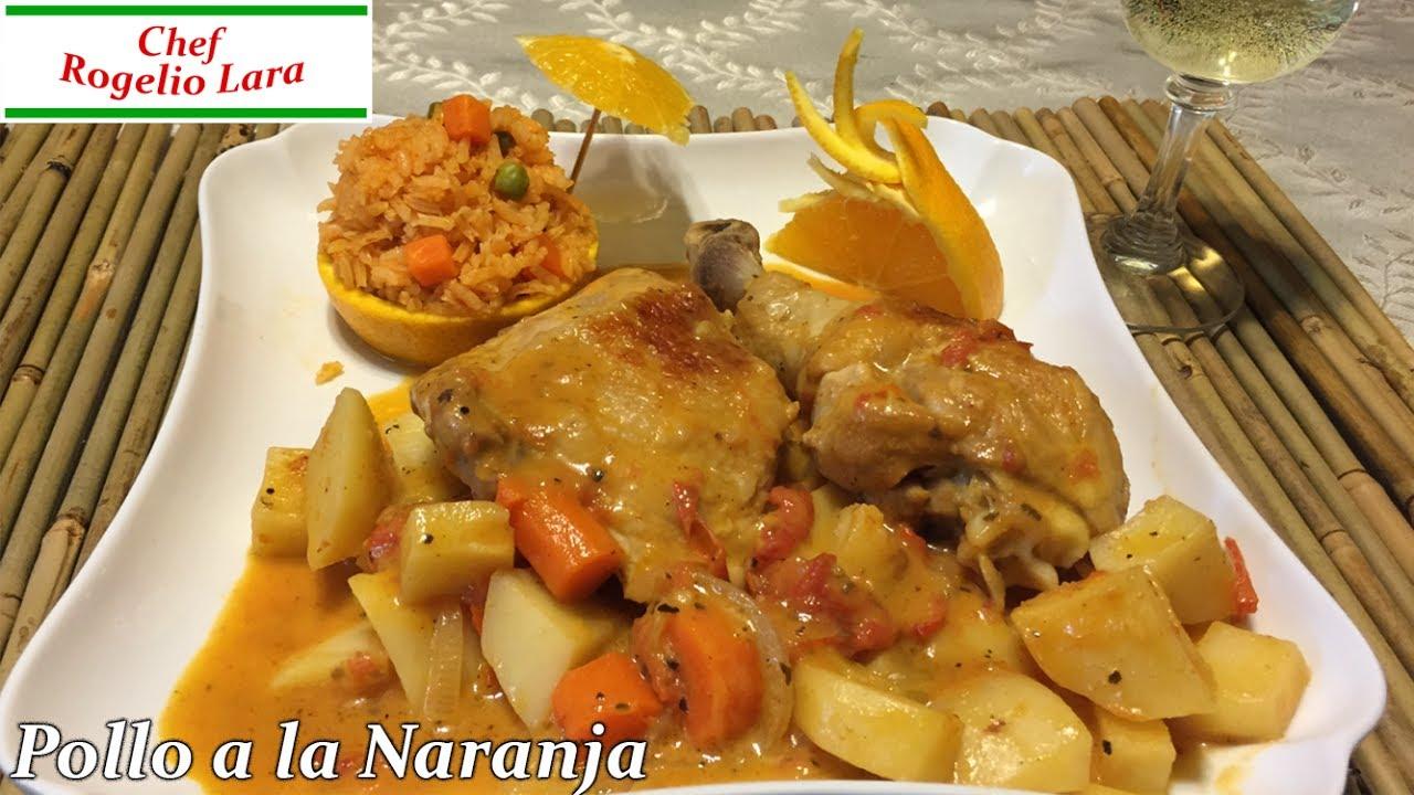 Pollo a la naranja deliciosa receta youtube for Despresadora de pollo