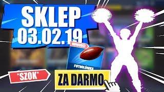 SKLEP FORTNITE 03.02.19   *SZOK* ZA DARMO W SKLEPIE! + Dwie Nowe emotki! Daily Item Shop 03.02